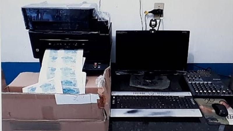 Polícia Federal prende suspeito e localiza fábrica de notas falsas em S.J.Nepomuceno