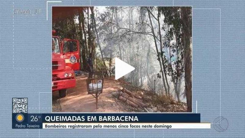 Bombeiros registram pelo menos cinco focos de incêndio em Barbacena