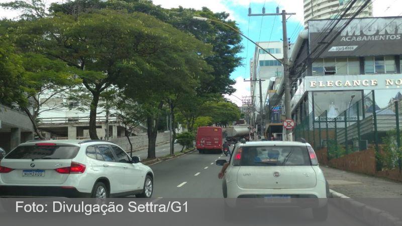 Carreta perde controle e motorista bate veículo em árvore em Juiz de Fora; trânsito ficou comprometido