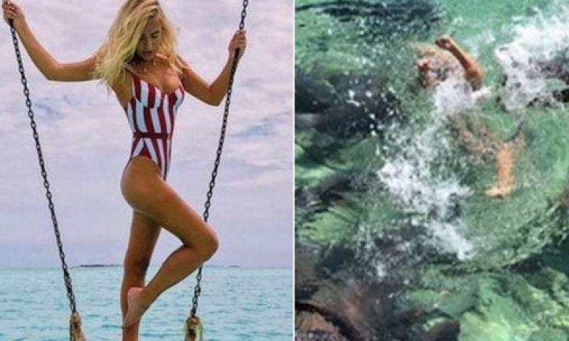 Modelo conta como escapou de mordida de tubarão