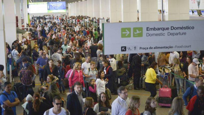 Número de passageiros em voos domésticos cresce 2,2% em 2017