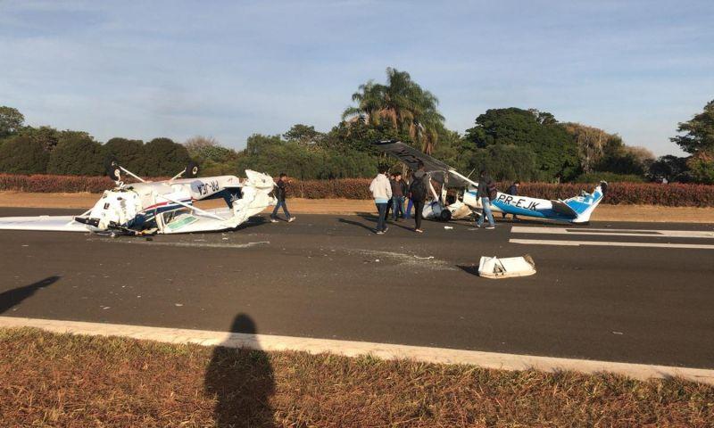 Aeronaves se chocam durante pouso em SP