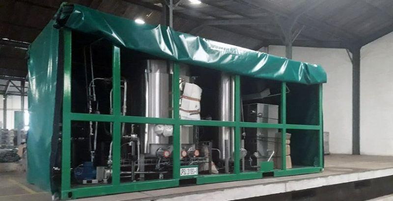Maquinário para a instalação de usina de biodiesel chega a Juiz de Fora