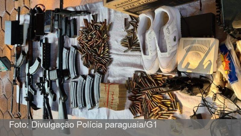 5 brasileiros são presos com 'arsenal de guerra' no Paraguai