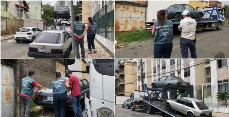 Prefeitura de JF recolhe carros em situação de abandono nas ruas