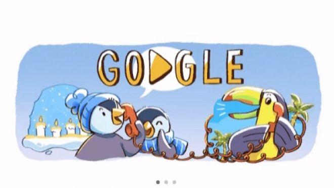 Imagens de Boas Festas são tema de Doodle do Google
