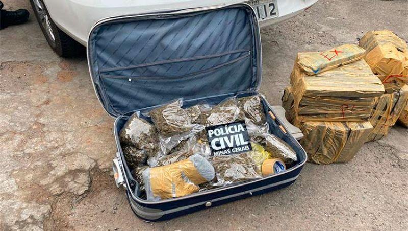 Polícia Civil apreende mais de 140 quilos de drogas na BR-040 em JF