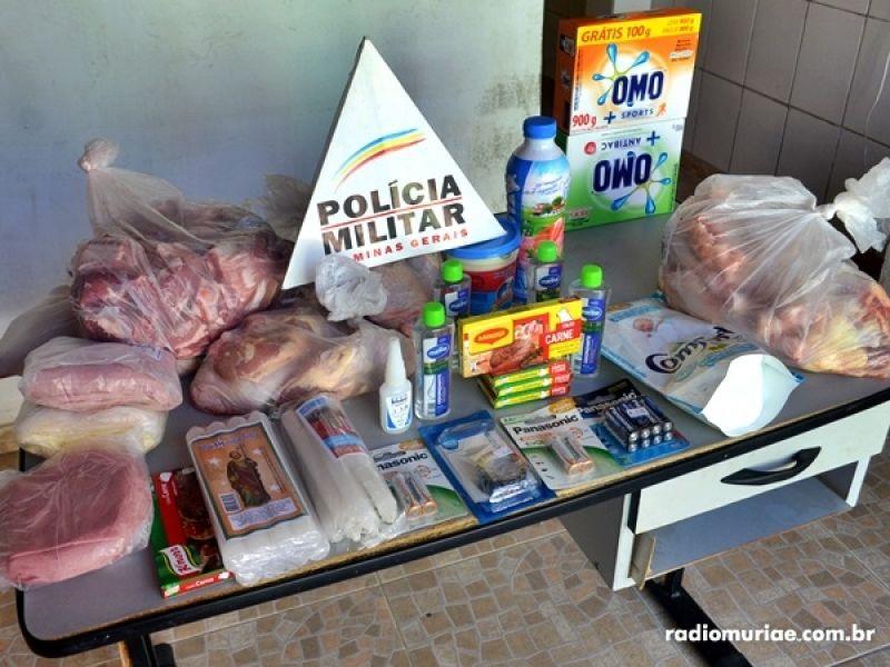 Homem tenta furtar mais de R$ 350 em produtos de supermercado em Muriaé e é detido
