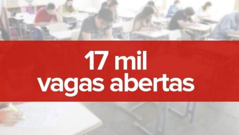 País tem quase 17 mil vagas abertas em 150 concursos públicos