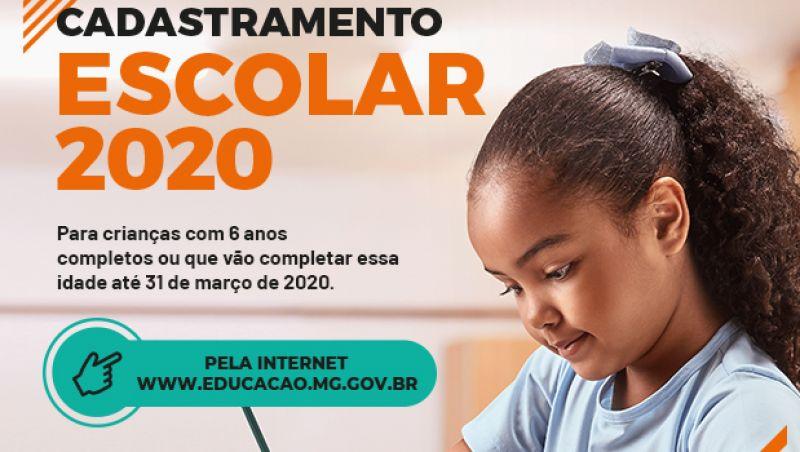 Cadastramento Escolar 2020 para a rede estadual de Minas acontece entre 1º e 12 de julho