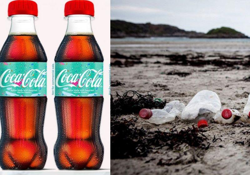 Coca-Cola fabrica 1ª garrafa com plástico recolhido do mar