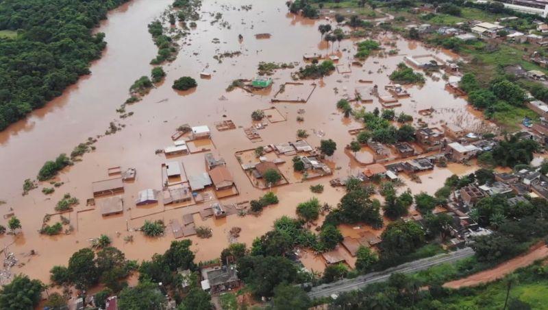 Chuvas deixam 101 cidades em situação de emergência em MG