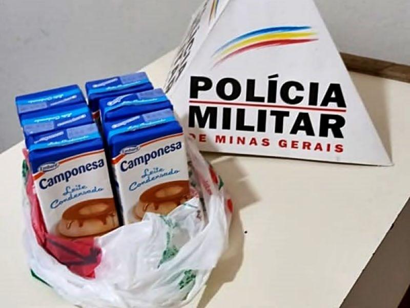 Jovem é detido após furtar leite condensado em supermercado no Centro de Muriaé