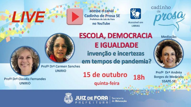 """JF: """"Cadinho de Prosa"""" realiza live sobre autonomia docente"""