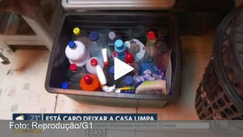 Produtos de limpeza mais caros levam famílias a mudar hábitos em casa