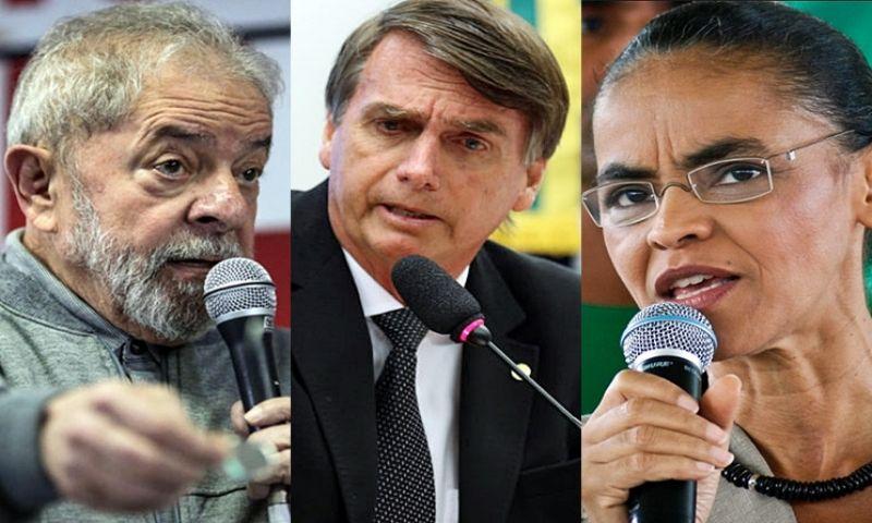 Lula tem 31%, Bolsonaro, 15%, Marina, 10%, aponta pesquisa Datafolha para 2018