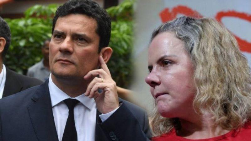 """Gleisi diz que levantamento do PT aponta que """"Reprovação de Moro chega a 91% nas redes"""""""