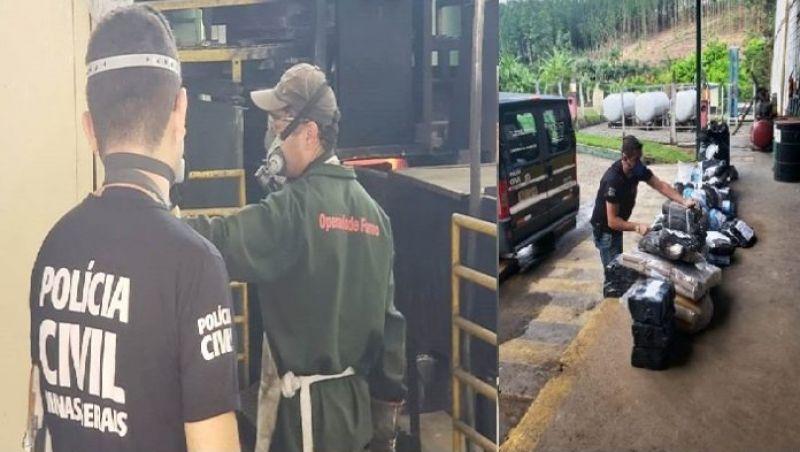 Polícia Civil incinera aproximadamente uma tonelada de drogas em Ubá