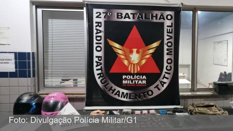 Grupo é preso com drogas e dinheiro após roubo de motocicleta em Juiz de Fora