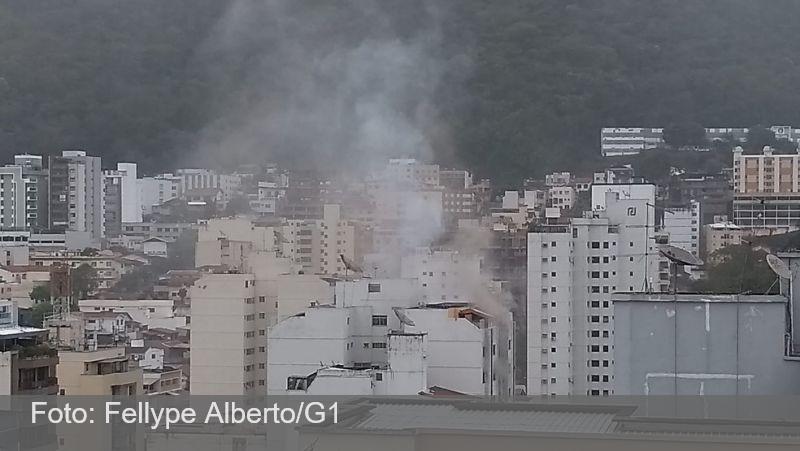 Apartamento pega fogo na rua Barão de Cataguases e mobiliza bombeiros em Juiz de Fora