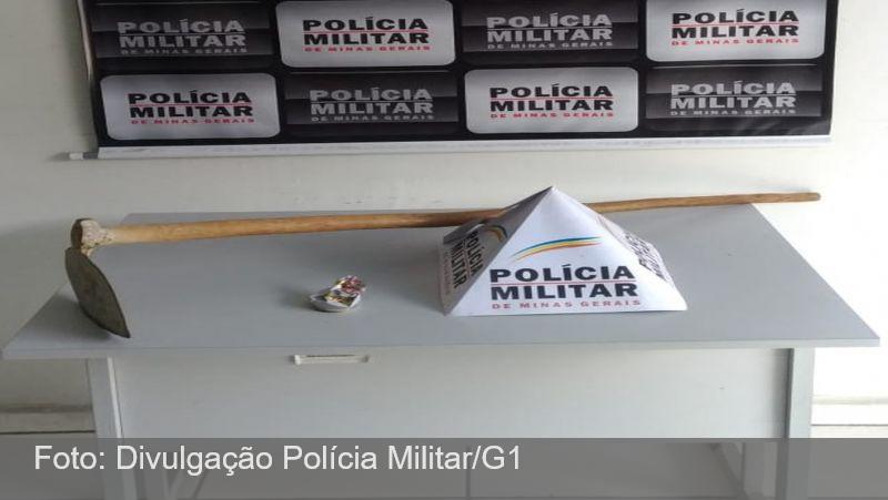 Jovem é preso após ameaçar companheira e policiais em Santos Dumont