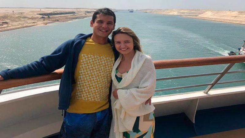 Casal está há duas semanas em cabine de navio na Itália