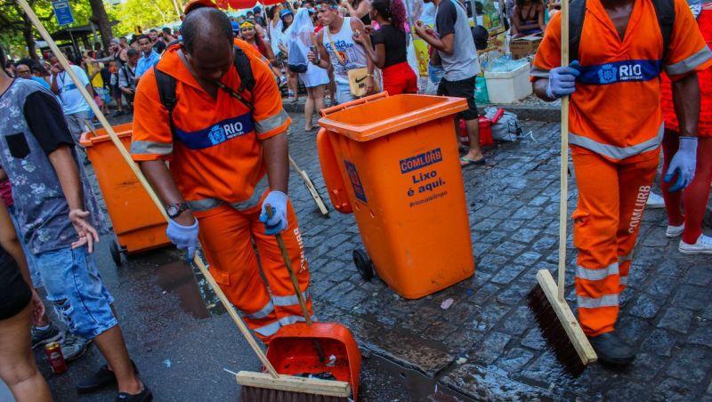 Comlurb remove 35,3 toneladas de resíduos no Sambódromo do Rio