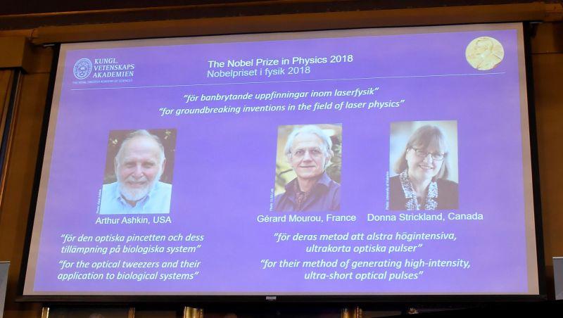 Americano, francês e canadense vencem Prêmio Nobel de Física 2018