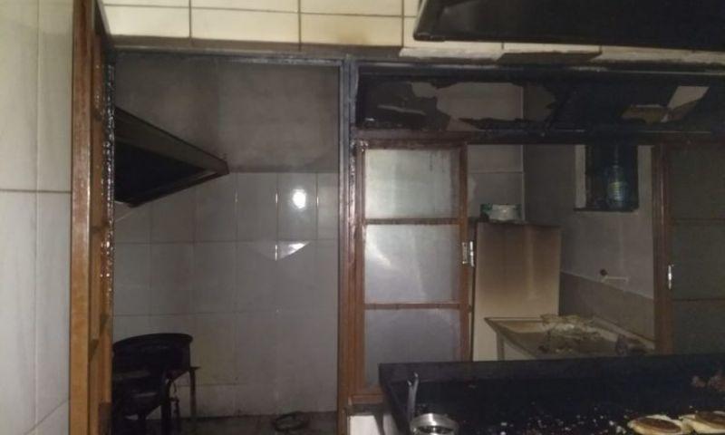 Lanchonete pega fogo em São João Del Rei