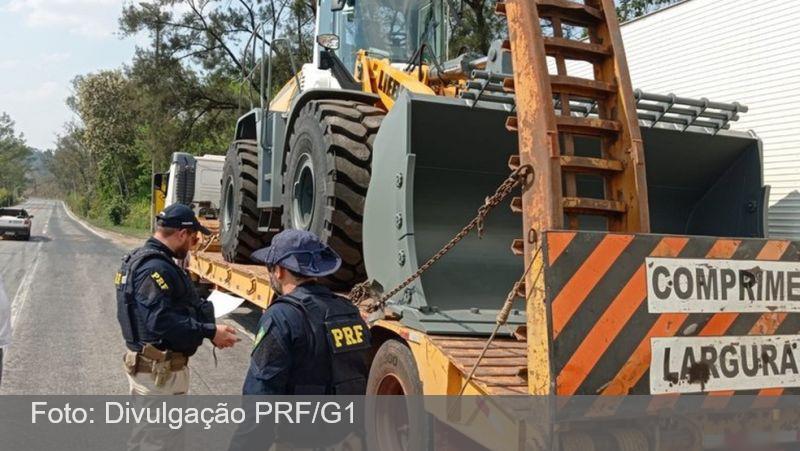 PRF faz operação e flagra mais de 1,1 milhão de quilos em excesso de peso em Minas Gerais