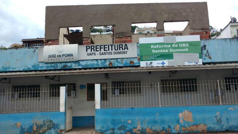 UBS do Bairro Santos Dumont em Juiz de Fora fica fechada por dois dias para reforma