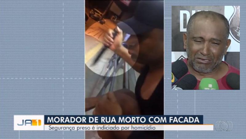 Segurança de farmácia filmado matando morador de rua chora ao ser preso e diz que morte foi acidental
