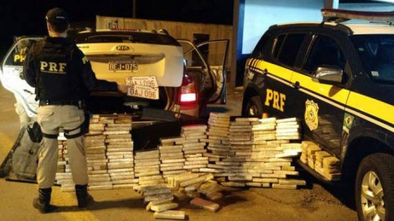 PRF apreende 350 toneladas de drogas este ano em rodovias federais