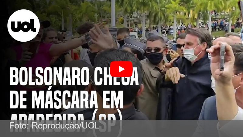 Bolsonaro é vaiado e aplaudido em visita a santuário em Aparecida