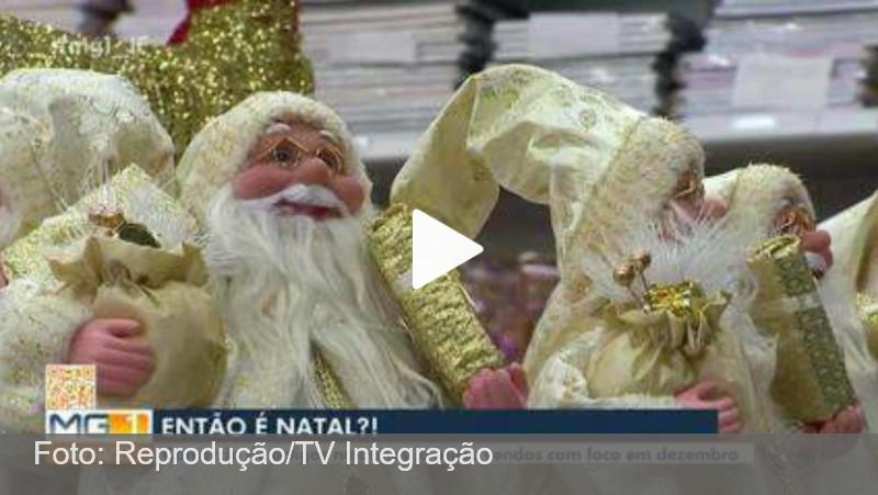 Lojas de artigos de decoração adiantam preparativos de Natal em Juiz de Fora