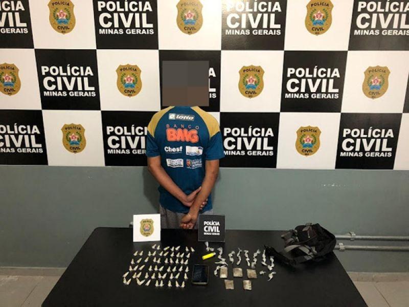 Polícia Civil apreende adolescente com grande quantidade de drogas em Além Paraíba, MG