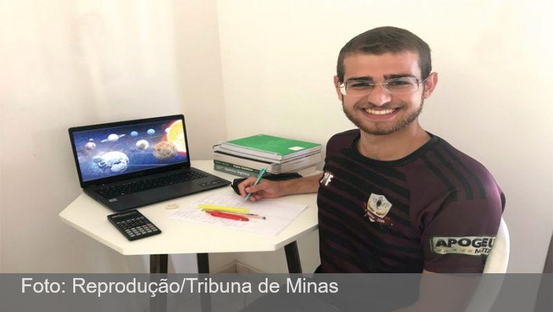 Estudante se prepara para disputar olimpíada global de Astrofísica e Astronomia