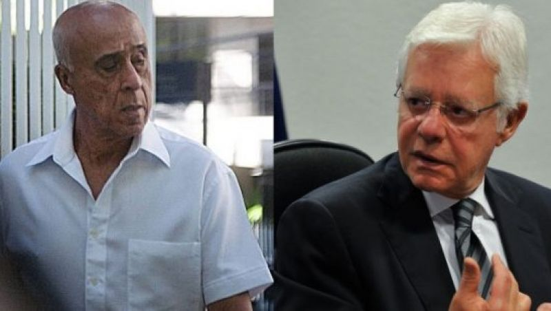 Moreira Franco e Coronel Lima deixam a sede da PF no Rio