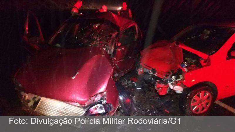 Colisão frontal deixa um morto e um ferido na MG-126 em Bicas