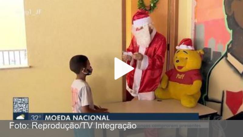 ONG de Juiz de Fora cria moeda para crianças comprarem presentes