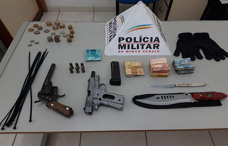 Em ação rápida e eficiente PM prende suspeitos de assalto a lotérica em Coronel Pacheco