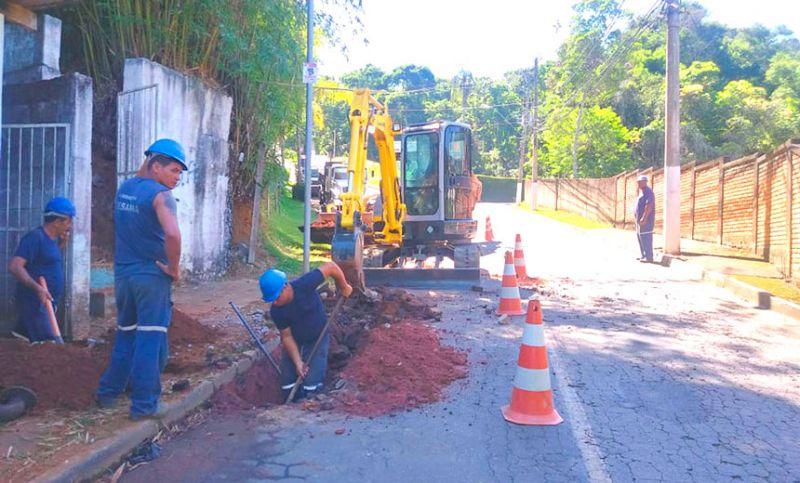 Remodelação de rede de água já está em fase final de execução no Bairro Vale do Ipê em JF