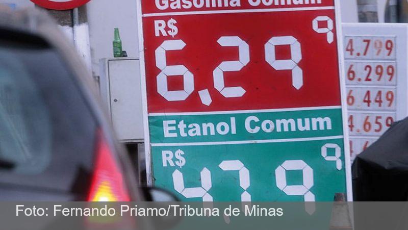 Em nova alta de preços, gasolina chega a R$ 6,29 em JF