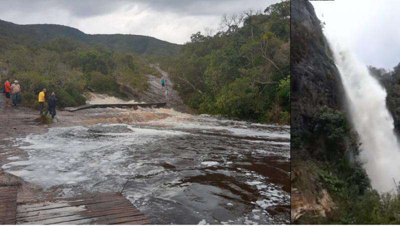 Cabeça d´água atinge Parque Estadual de Ibitipoca - vídeo
