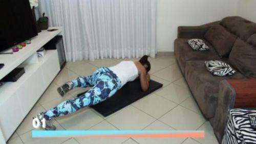 Treino para afinar a cintura com 6 minutos de exercício em casa