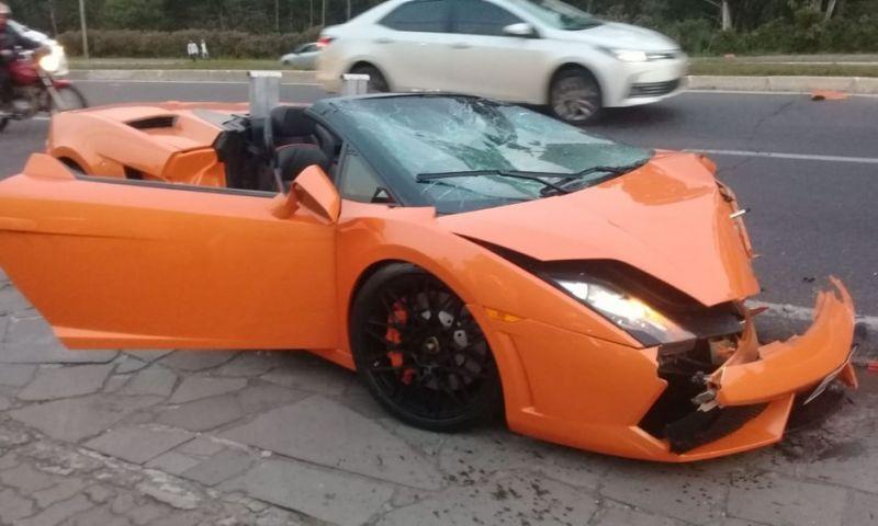 Lamborghini destruída por turista em acidente no RS não tinha seguro