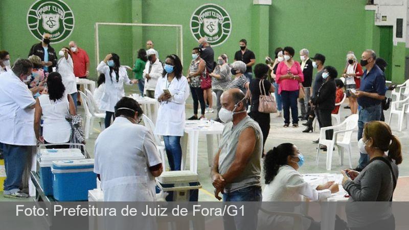Vacina Covid-19 em Juiz de Fora: após 6 meses, ponto de aplicação do Sport Club é desativado