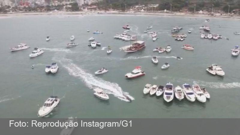 Organizadora de festa de luxo em iates no litoral de SP diz que Covid é 'marketing do Governo'