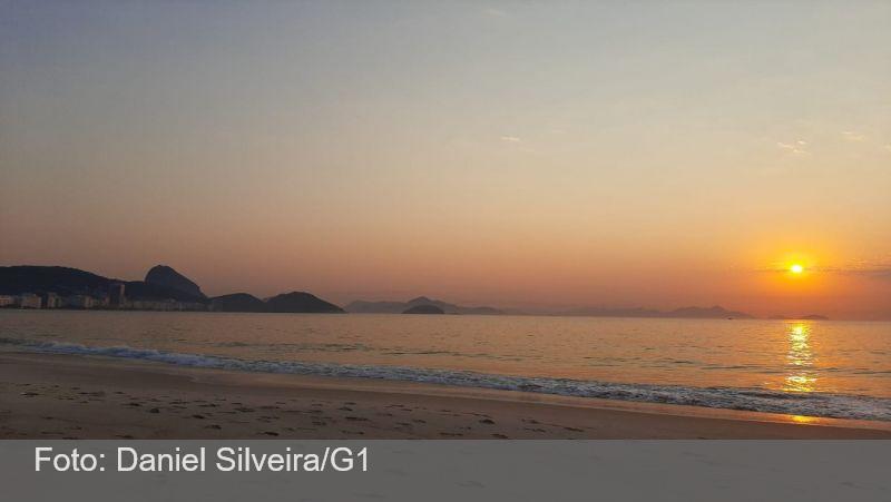 Após calor recorde, frente fria deixa temperatura mais baixa no Rio neste sábado