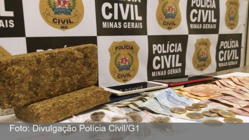 Grupo é preso com maconha durante operação de combate ao tráfico de drogas em Juiz de Fora